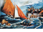 St-Mac Dara's regattas. July, 16, 1906 - 68 x 37 x 19 cm - 1997 -  détail